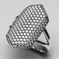Jewelry-Diamond white gold ring-3