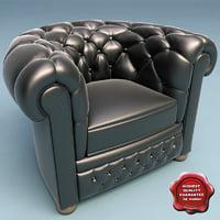 3d armchair classic v2 model