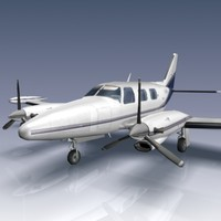 piper pa-31t cheyenne 3d model