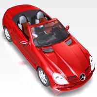3d model car mercedes slk