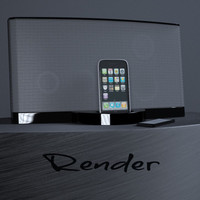 3ds max iphone ipod dock