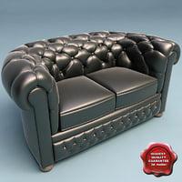 3d sofa slassic v3 model
