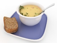 3ds max food soup -