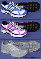 Realistic Female Sport Shoes 3d Model