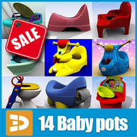 3d baby potties 3dr152