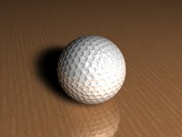 3d model of golf ball stand