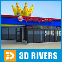 3d model fast food burger king