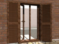 3d italian door window