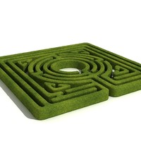 3d model classical labyrinth mazes