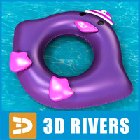 3d inflatable swim ring