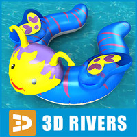 Inflatable swim ring 08 by 3DRivers