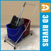 3d model of mop wringer