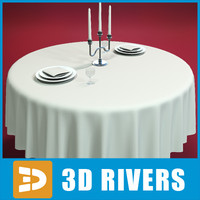 portable hotel table 3d model