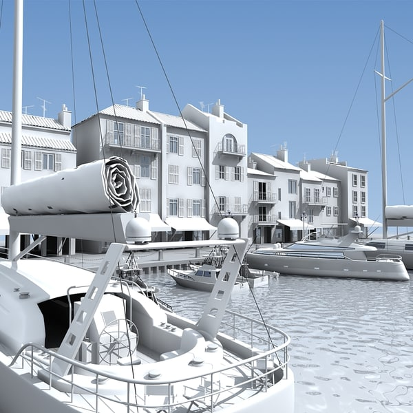 3ds max seaside port for Porte 3ds max