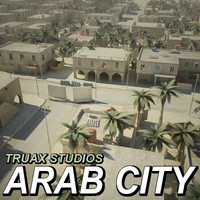 3d model large arab city street