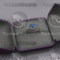 3d model sapphire ring