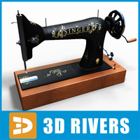 Singer sewing machine hand by 3DRivers