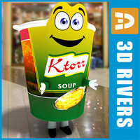 promotional soup costume 3d max