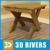 sauna stool 3d model