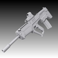 3d tavor assault rifle model