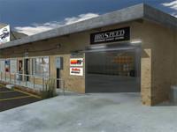 3d model custom auto shop