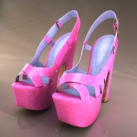 3ds max heeled shoes