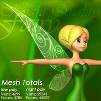 3dsmax leaves fairy case