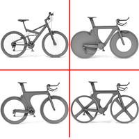 4 bikes 3d model
