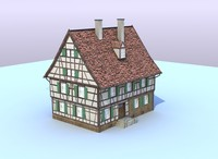 3d model of german farm house