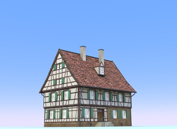 3d model of german farm house - German farm house... by AridOcean