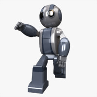 robot character 3d c4d