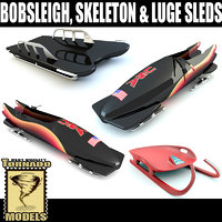 Bobsleigh Skeleton Luge Sleds Collection