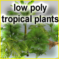 3d model tropical plants