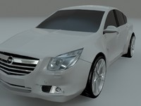 opel vauxhall insignia 3d model