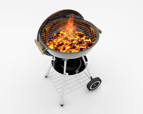 3d model of kettle cooker bbq - BBQ cooker - kettle braai (weber)... by crashtackle