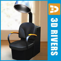 3d chair dryer hair