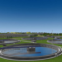 3d model of wastewater treatment plant