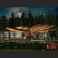 restaurant building 3d max