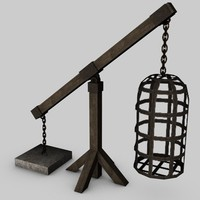3ds max medieval cage