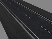 3d model of city road