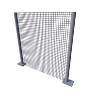 3d metal fence model