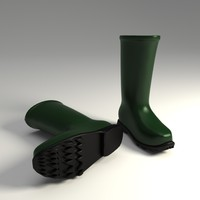 3d model wellington boots