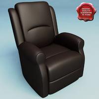 3d model armchair v18