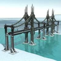 3d futuristic bridge