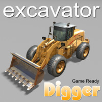 3ds industrial bulldozer