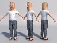 3d baby girl games girl05 model
