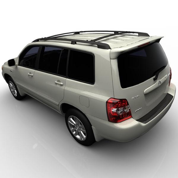 Hybrid Toyota Highlander: Toyota Highlander Hybrid 3d Model