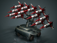 missile launcher mobile 3d model