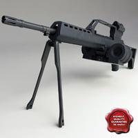 3d model realistic mg36