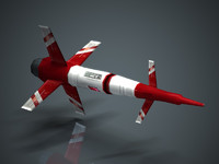 3d model low-polygon missile